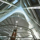 Spiral Stairs in LUMS Graduate Building